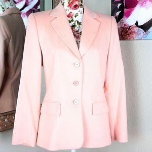 ESCADA | Blush Pink Cashmere Silk 3 Button Jacket